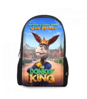 donkey king printed backpacks